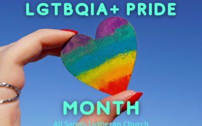 June is LGBTQIA+ Pride  Month